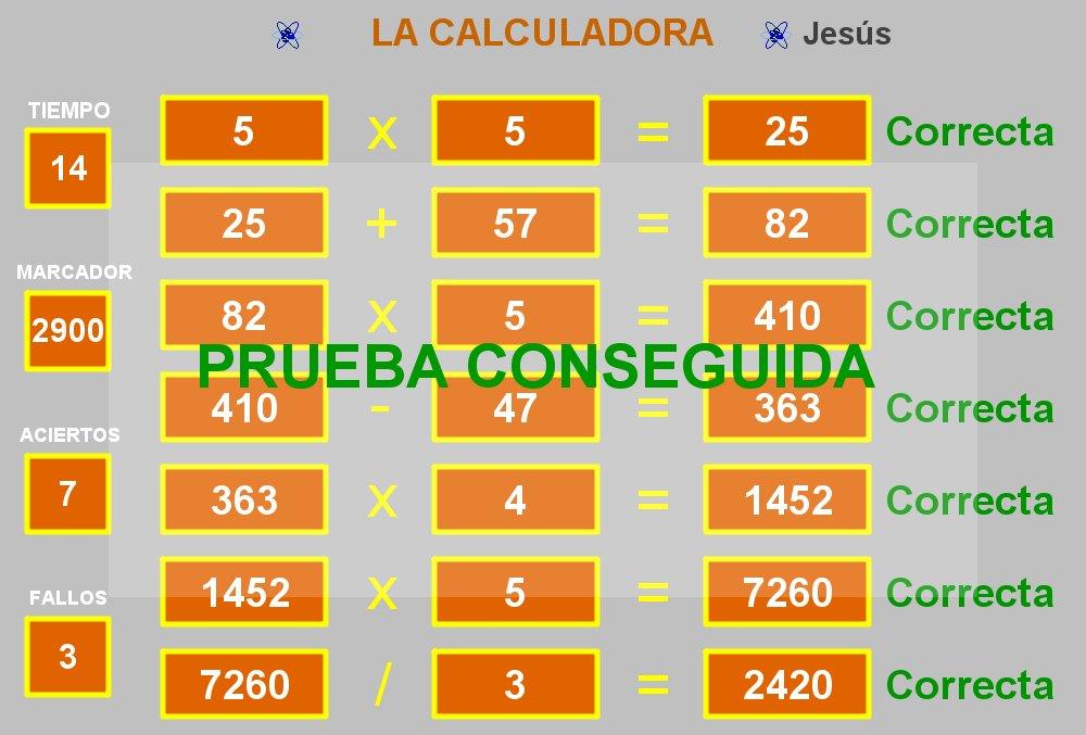juegos con la calculadora