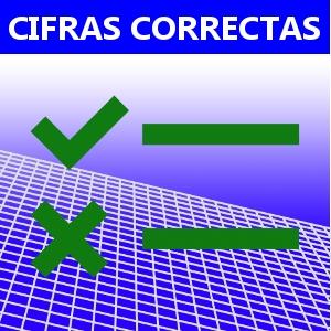 CIFRAS CORRECTAS