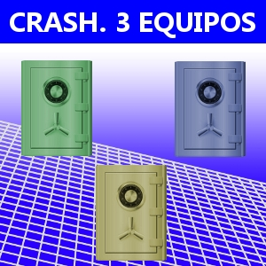CRASH. 3 EQUIPOS
